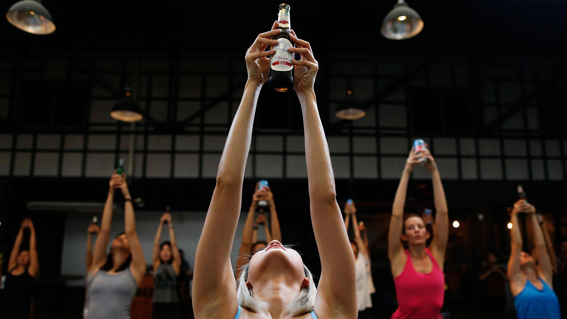 Le yoga bière, une nouvelle discipline en 2017